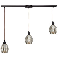 ELK 46007/3L Danica 3 Light 36 inch Oiled Bronze Linear Pendant Ceiling Light in Linear with Recessed Adapter