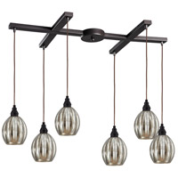 ELK 46007/6 Danica 6 Light 33 inch Oiled Bronze Pendant Ceiling Light photo thumbnail