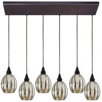 ELK Lighting Danica 6 Light Pendant in Oiled Bronze 46007/6RC photo thumbnail