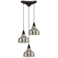 ELK Lighting Danica 3 Light Pendant in Oiled Bronze 46008/3