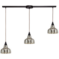 ELK 46008/3L Danica 3 Light 36 inch Oiled Bronze Linear Pendant Ceiling Light in Linear with Recessed Adapter