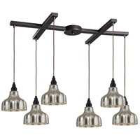 Danica 6 Light 33 inch Oiled Bronze Pendant Ceiling Light