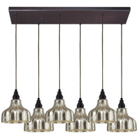 ELK Lighting HGTV Home Danica 6 Light Pendant in Oiled Bronze 46008/6RC