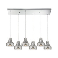 ELK Lighting Danica 6 Light Chandelier in Polished Chrome 46013/6RC