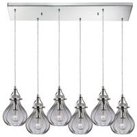 Danica 6 Light 30 inch Polished Chrome Chandelier Ceiling Light