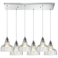 Danica 6 Light 30 inch Polished Chrome Pendant Ceiling Light