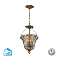 ELK Lighting HGTV HOME Cheltham 3 Light Semi Flush in Mocha with Recessed Conversion Kit 46021/3-LA