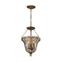 ELK Lighting HGTV HOME Cheltham 3 Light Semi Flush in Mocha 46021/3