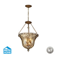 ELK Lighting HGTV HOME Cheltham 4 Light Semi Flush in Mocha with Recessed Conversion Kit 46022/4-LA