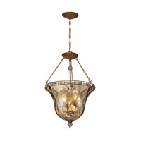 ELK Lighting HGTV HOME Cheltham 4 Light Semi Flush in Mocha 46022/4