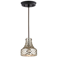 Elk Lighting HGTV Home Danica 1 Light Pendant in Oil Rubbed Bronze 46023/1