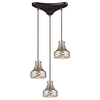 Danica 3 Light 10 inch Oil Rubbed Bronze Chandelier Ceiling Light