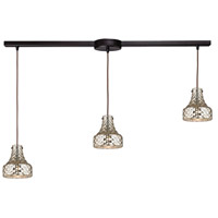 ELK 46023/3L Danica 3 Light 36 inch Oil Rubbed Bronze Linear Pendant Ceiling Light in Linear with Recessed Adapter