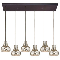 ELK Lighting HGTV HOME Danica 6 Light Chandelier in Oil Rubbed Bronze 46023/6RC