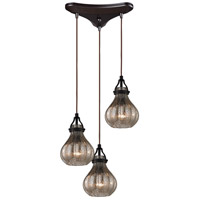 ELK Lighting HGTV HOME Danica 3 Light Chandelier in Oil Rubbed Bronze 46024/3
