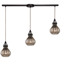 Danica 3 Light 36 inch Oil Rubbed Bronze Chandelier Ceiling Light