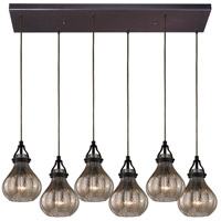 ELK Lighting HGTV HOME Danica 6 Light Chandelier in Oil Rubbed Bronze 46024/6RC