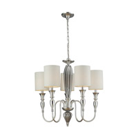 ELK Lighting Martique 5 Light Chandelier in Silver Leaf 46034/5