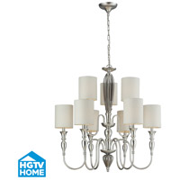 ELK Lighting HGTV HOME Martique 9 Light Chandelier in Silver Leaf 46035/6+3