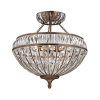 ELK 46045/6 Empire 6 Light 22 inch Mocha Semi-Flush Mount Ceiling Light