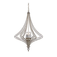 Ventoux 6 Light 27 inch Satin Silver Chandelier Ceiling Light