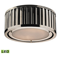 Linden LED 12 inch Polished Nickel Flush Mount Ceiling Light