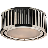 Linden 2 Light 12 inch Polished Nickel Flush Mount Ceiling Light in Standard