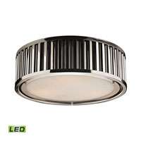 Linden LED 16 inch Polished Nickel Flush Mount Ceiling Light