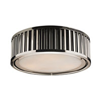 Linden 3 Light 16 inch Polished Nickel Flush Mount Ceiling Light in Standard