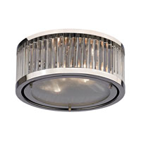Linden 2 Light 12 inch Polished Nickel Flush Mount Ceiling Light