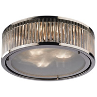ELK Lighting Linden 3 Light Flush Mount in Polished Nickel 46103/3