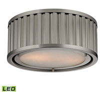 Linden LED 12 inch Brushed Nickel Flush Mount Ceiling Light