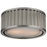 Linden 2 Light 12 inch Brushed Nickel Flush Mount Ceiling Light in Standard