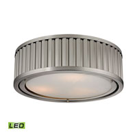 Linden LED 16 inch Brushed Nickel Flush Mount Ceiling Light
