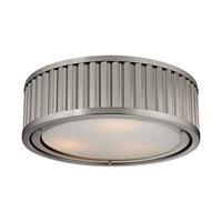 Linden 3 Light 16 inch Brushed Nickel Flush Mount Ceiling Light in Standard