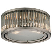ELK Lighting Linden 2 Light Flush Mount in Brushed Nickel 46112/2