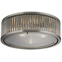 ELK 46113/3 Linden Manor 3 Light 16 inch Brushed Nickel Flush Mount Ceiling Light