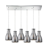 ELK Lighting HGTV HOME Strata 6 Light Chandelier in Polished Chrome 46117/6RC