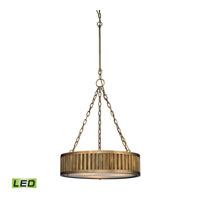 ELK Lighting Linden LED Pendant in Aged Brass 46124/3-LED