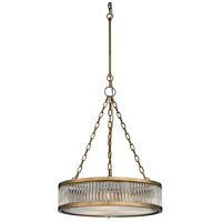 ELK 46125/3 Linden Manor 3 Light 20 inch Aged Brass Pendant Ceiling Light