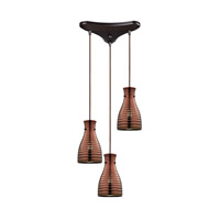 ELK Lighting HGTV HOME Strata 3 Light Chandelier in Oil Rubbed Bronze 46127/3