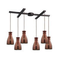 ELK Lighting HGTV HOME Strata 6 Light Chandelier in Oil Rubbed Bronze 46127/6