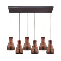 ELK Lighting HGTV HOME Strata 6 Light Chandelier in Oil Rubbed Bronze 46127/6RC