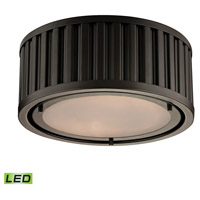 Linden LED 12 inch Oil Rubbed Bronze Flush Mount Ceiling Light