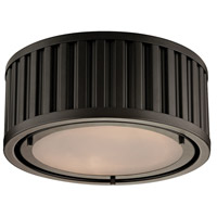 Linden 2 Light 12 inch Oil Rubbed Bronze Flush Mount Ceiling Light in Standard