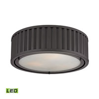 Linden LED 16 inch Oil Rubbed Bronze Flush Mount Ceiling Light
