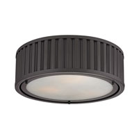 ELK 46131/3 Linden 3 Light 16 inch Oil Rubbed Bronze Flush Mount Ceiling Light in Standard photo thumbnail