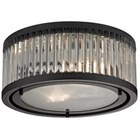 Linden 2 Light 12 inch Oil Rubbed Bronze Flush Mount Ceiling Light