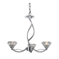 ELK Lighting Hawthorne 3 Light Chandelier in Polished Chrome 46148/3