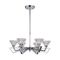 Frenzy 6 Light 20 inch Polished Chrome Chandelier Ceiling Light